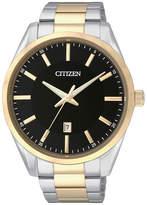 JCPenney Citizen Quartz Citizen Mens Two-Tone Stainless Steel Watch BI1034-52E