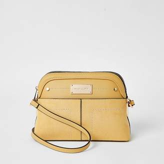 River Island Yellow pocket front cross body bag