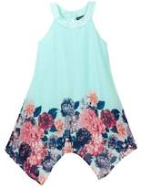 My Michelle mymichelle Floral Print Boarder Dress (Big Girls)