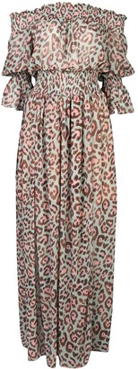 PatBO Leopard-Print Maxi Dress