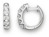 Bloomingdale's Diamond Bar Band Hoop Earrings in 14K White Gold, 1.0 ct. t.w. - 100% Exclusive