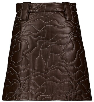 Ganni Leather miniskirt