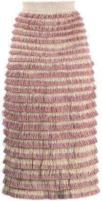 Burberry Pre-Owned 2000's Fringed Skirt