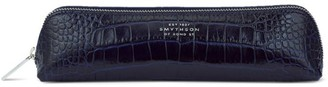 Smythson Mara Embossed Leather Pencil Case