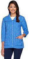 Aran Craft Merino Wool Irish Spring 3/4 Sleeve Cardigan