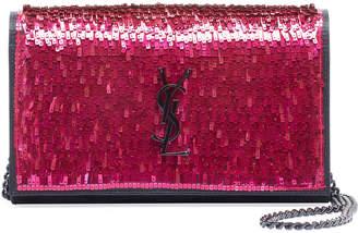 Saint Laurent Kate Paillette Wallet On Chain