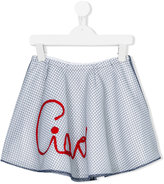 I Pinco Pallino - ciao embroidered skirt - kids - Cotton/Polyester - 2 yrs