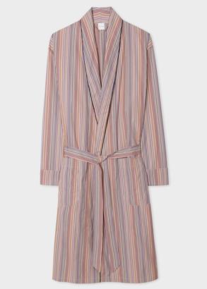 Paul Smith Men's Signature Stripe Cotton Dressing Gown