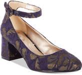 Bandolino Odear Ankle-Strap Block Heel Pumps