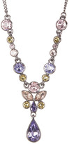 Givenchy Multi Color Floral Crystal Y-Necklace