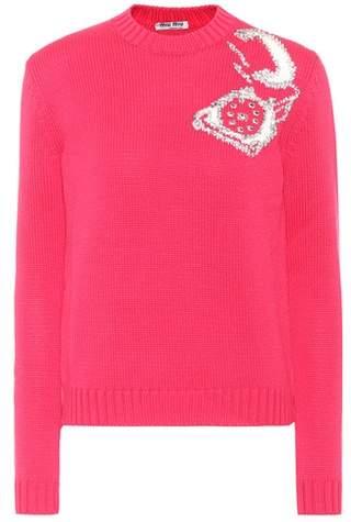 Miu Miu Embellished wool sweater