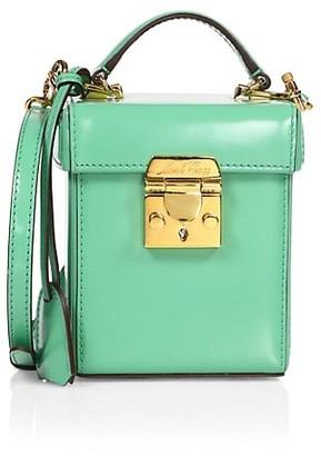 Mark Cross Grace Patent Leather Crossbody Cube Bag