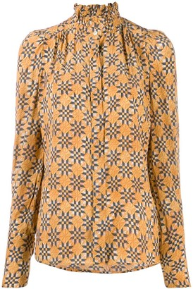 Isabel Marant patterned high-neck blouse