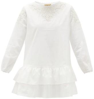 Muzungu Sisters - Dana Ruffled Organic-cotton Blouse - White