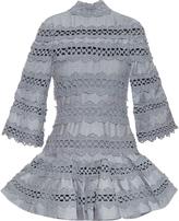 Zimmermann Havoc high-neck lace-insert dress