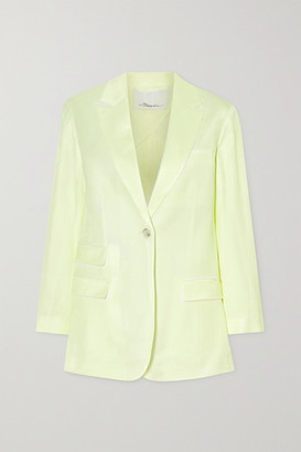 3.1 Phillip Lim Two-tone Twill Blazer - Pastel yellow