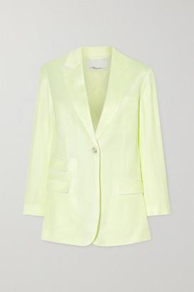 3.1 Phillip Lim - Two-tone Twill Blazer - Pastel yellow
