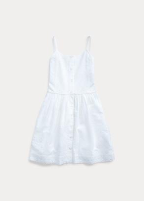 Ralph Lauren Eyelet Buttoned Cotton Dress