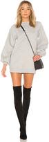 Lovers + Friends Jessa Sweatshirt Dress in Gray. - size L (also in M,S,XL)