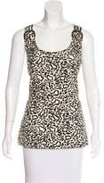 Stella McCartney Sleeveless Leopard Top
