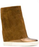 Casadei concealed platform metallic boots