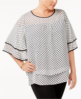 NY Collection Plus Size Layered Top
