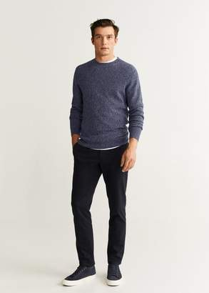 MANGO MAN - Flecked cotton-blend sweater blue - XS - Men