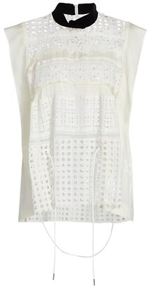 Sacai Embroidered Lace Shirt