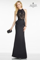 Alyce Paris Black Label - 5752 Dress in Black Nude