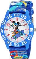 Disney Boy's 'Mickey Mouse' Quartz Plastic and Nylon Casual Watch, Color: (Model: WDS000126)