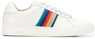 Paul Smith striped lace up sneakers