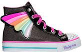 Skechers Girls' Preschool Twinkle Toes: Shuffles - Wander Wings High Top Casual Shoes
