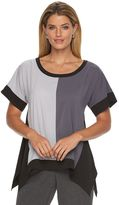 Dana Buchman Women's Colorblock Crepe Top