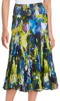 Context Paint-Splattered Tiered Skirt
