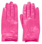 Kate Spade Bow-Accented Leather Gloves w/ Tags