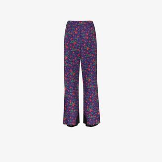 MONCLER GRENOBLE Floral print flared ski trousers