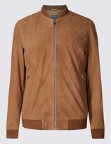 suede baseball jacket - ShopStyle