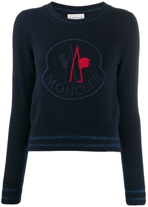 Moncler oversized logo knitted sweater
