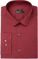 Bar III Men's Slim-Fit Stretch Easy-Care Burgundy Purple Floral Motif Dress Shirt, Created for Macy's
