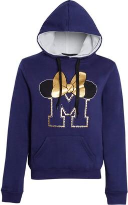 Disney Womens Minnie Mouse Hoodie Navy Medium