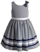 Sweet Heart Rose Sweetheart Rose Girls 2-6x Sleeveless Seersucker Dress with Ribboned Hem