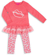 Betsey Johnson Girls 2-6x Two-Piece Sweater and Leggings Set