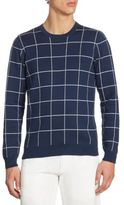 Lacoste Windowpane Jacquard Crewneck Sweater