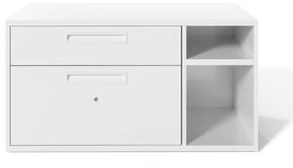 "Upper Squareâ""¢ Dalton Under Desk Personal 2-Drawer Lateral Filing Cabinet Upper Squarea Color: White"