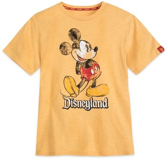 Disney Mickey Mouse Classic Marled T-Shirt for Adults Disneyland Yellow