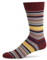 Saks Fifth Avenue Jape Thin Stripe Crew Socks