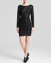 Aqua Dress - Sequin Ruched Sheath