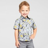 Star Wars Toddler Boys' Short Sleeve Button Down Shirt - Gray