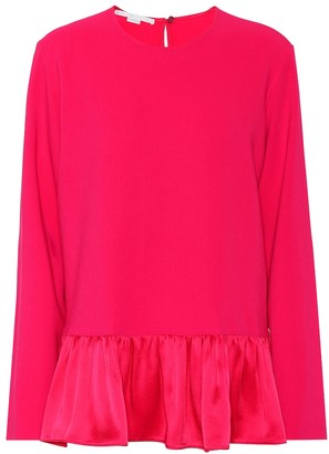 Stella McCartney Stretch cady peplum blouse