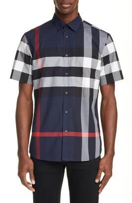 Burberry Somerton Check Stretch Cotton Shirt